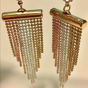 14kT 3 color Gold Earrings